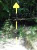 Маркировачни стълбове по маршрута Боснек - Живата вода - Меча чешма
